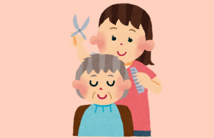 高齢の母が歩行困難に。でも髪のケアはきちんとしてあげたいイメージ